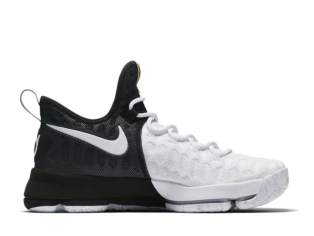 Chaussures De Basketball Homme Nike KD 9 BHM Prix Pas Cher NOir