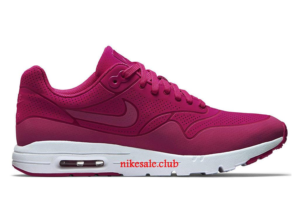 Chaussures De Running Nike Air Max 1 Ultra Moire Prix Pas Cher Pour Femme Rouge 704995 601 Les Nike Magasins Discount D´usine,Nike BasketBall Pas