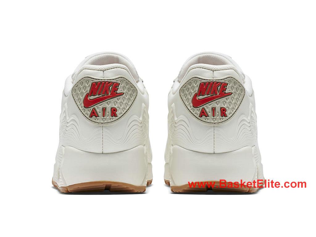 Chaussures Femme Nike Air Max 90 Essential Pas Cher Beige Blanc