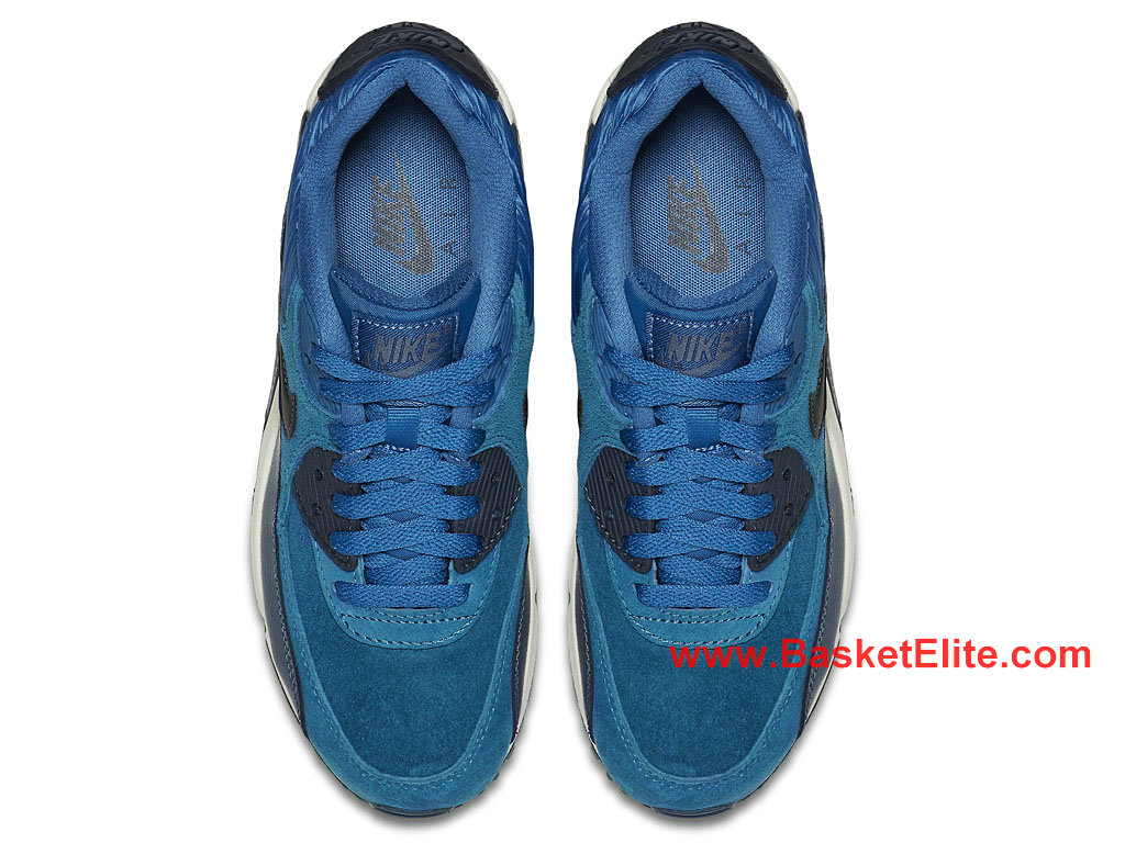 on feet images of quite nice detailed look Chaussures Femme Nike Air Max 90 Essential Pas Cher Bleu Noir ...