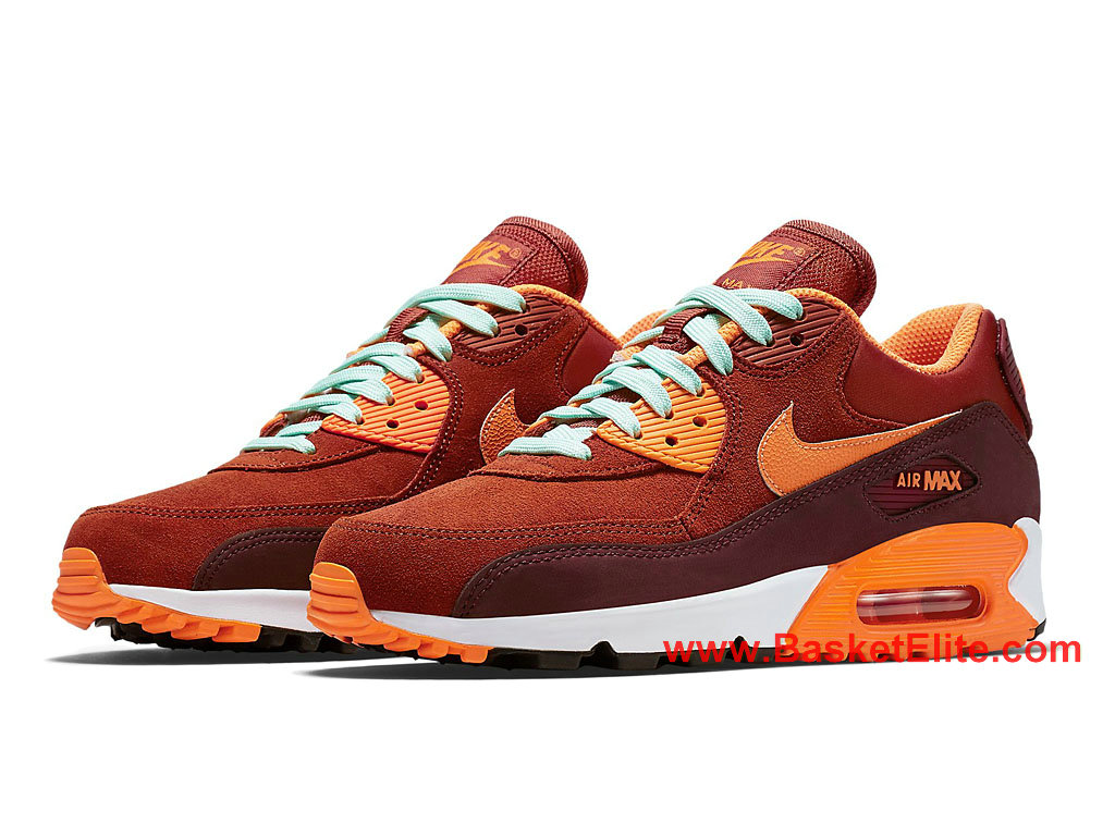 Chaussures Femme Nike Air Max 90 Pas Cher Brun Rouge 768887 600