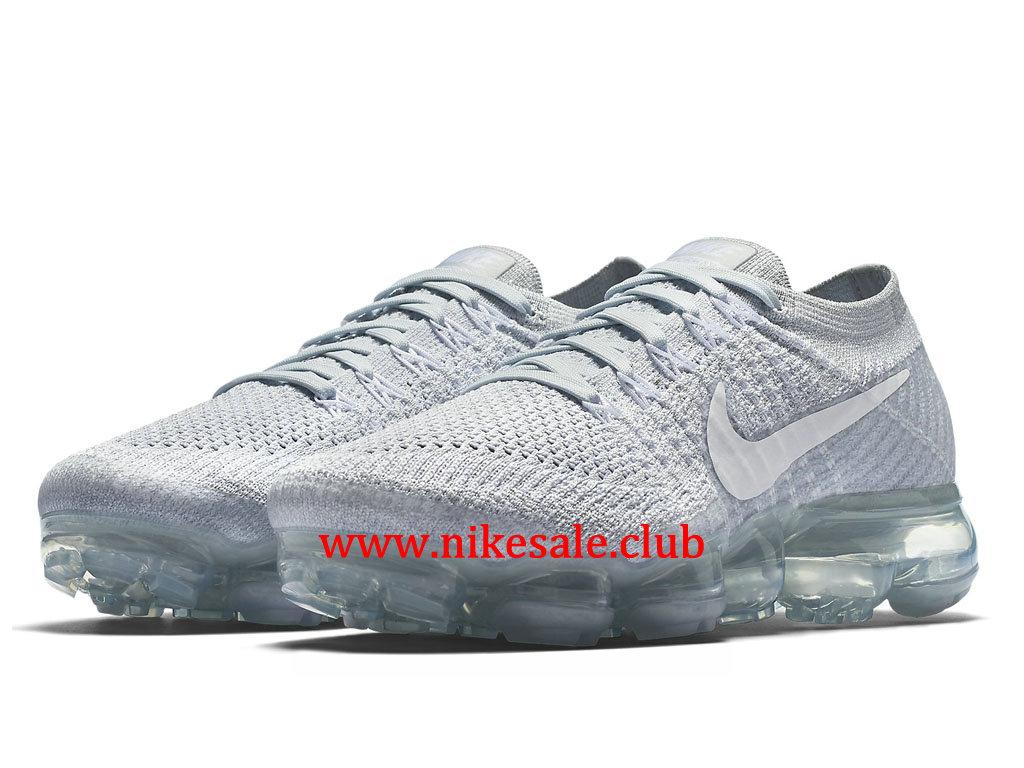 Chaussures Femme Nike Air VaporMax Flyknit Pas Cher Wolf Gris 849557
