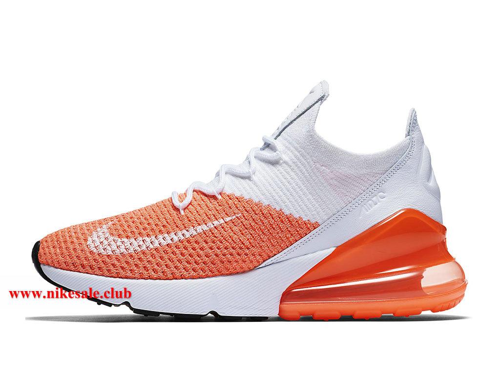 Chaussures Nike Air Max 270 Flyknit WMNS Pas Cher Prix Pour Femme OrangeBlanc AH6803_800 1806271585 Les Nike Magasins Discount D´usine,Nike