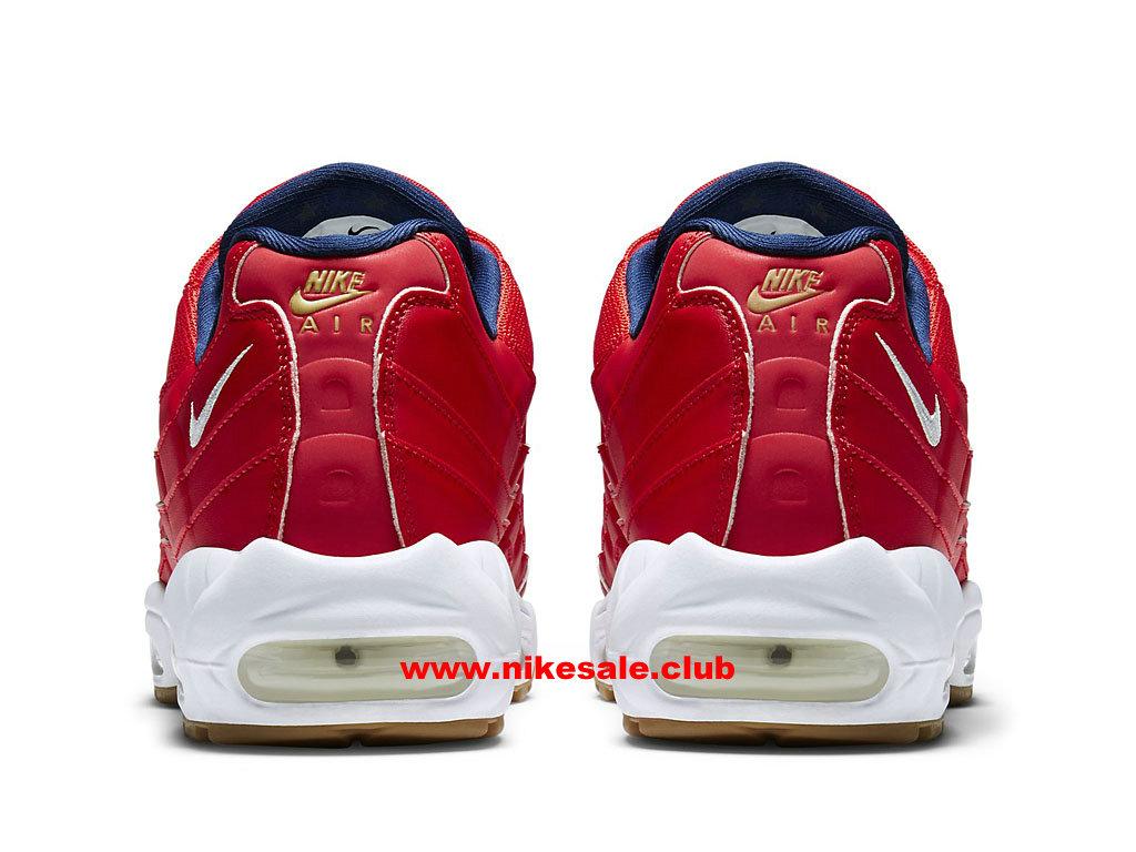 ... Chaussures Nike Air Max 95 Premium USA Prix Homme Pas Cher Rouge/Bleu 538416_614