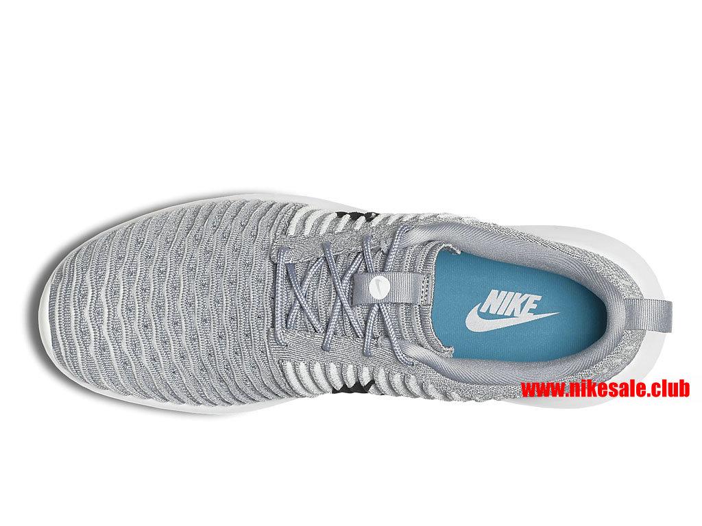 ... Chaussures Running Nike Roshe Two Flyknit Prix Homme Pas Cher Gris/Noir 844833_002 ...