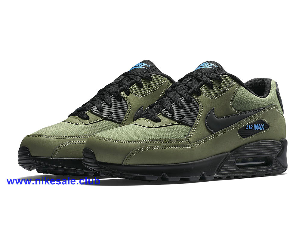 ... Nike Air Max 90 Essential Chaussures Pour Homme Olive Vert Noir 537384_302 Nike Pas Cher ...