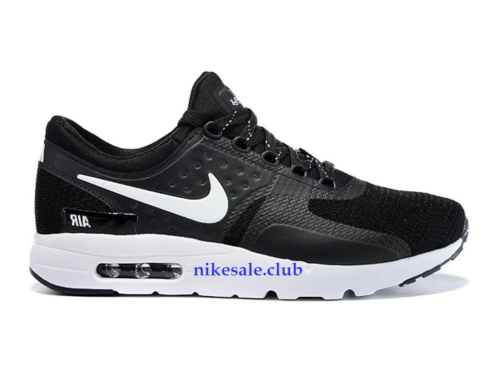 Nike Air Max Zero Prix Chaussures Nike Sale Pour Homme NoirBlanc 789695 I003, Les Nike Magasins Discount D´usine,Nike BasketBall Pas Cher Site