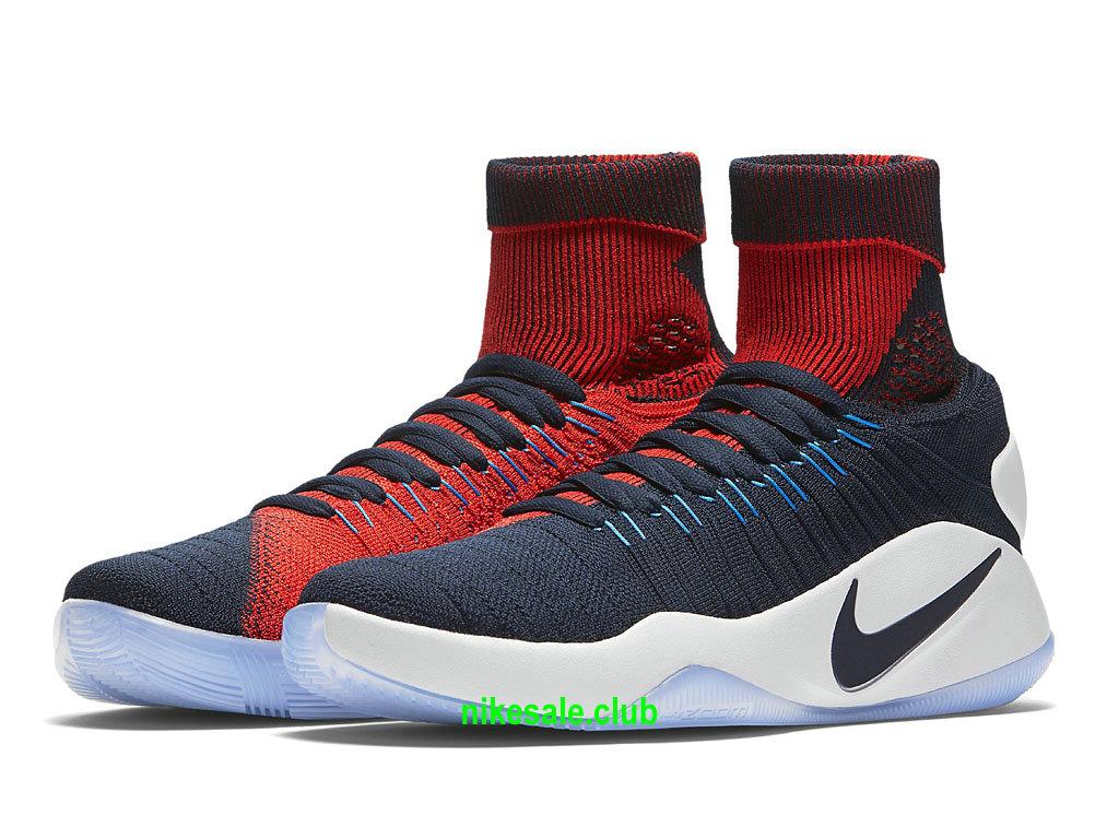 Nike Hyperdunk 2016 Flyknit Prix Chaussures De BasketBall Pas Cher Pour Homme BleuRougeBlanc 843390_446 Les Nike Magasins Discount D´usine,Nike